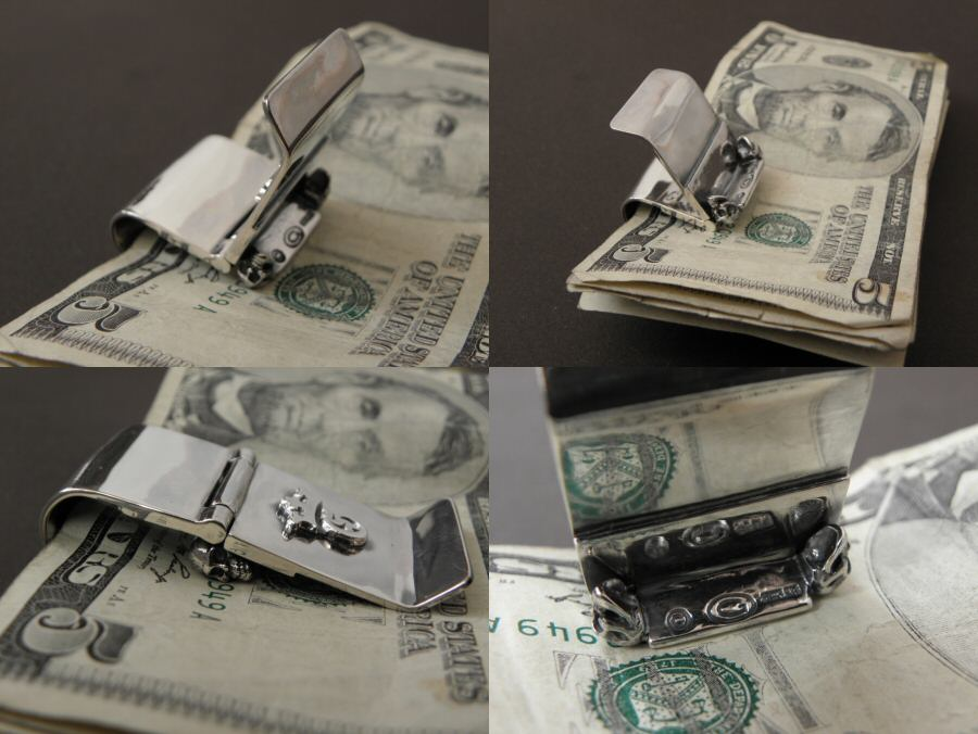 画像5: Giant Skull Money Clip Butterfly