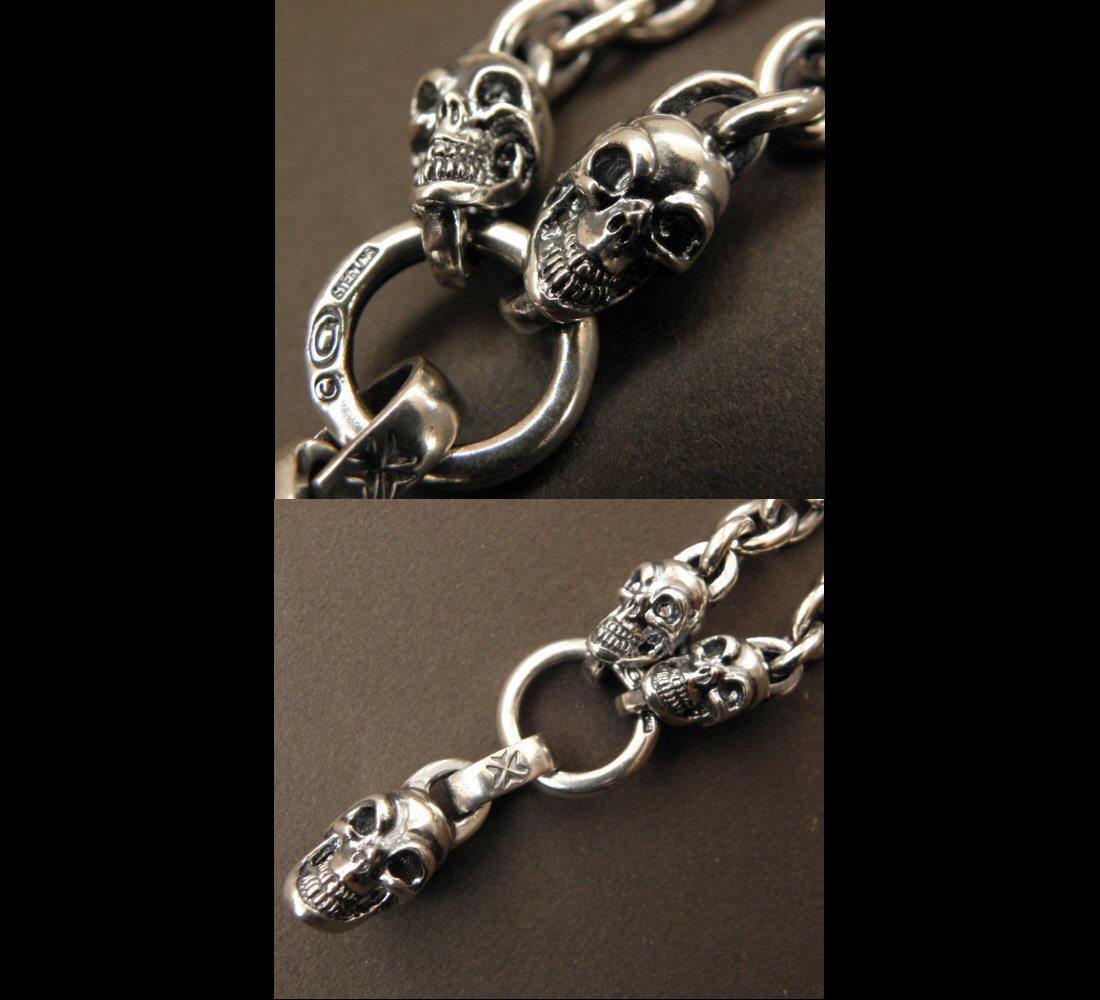 画像3: Half Skull With 2 Quarter Skulls & 7Chain Necklace