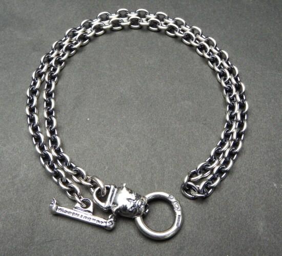 画像3: 6Chain with quarter bulldog & quarter T-bar necklace