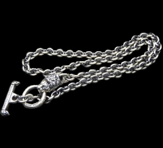 画像1: 6Chain with quarter lion & quarter T-bar necklace