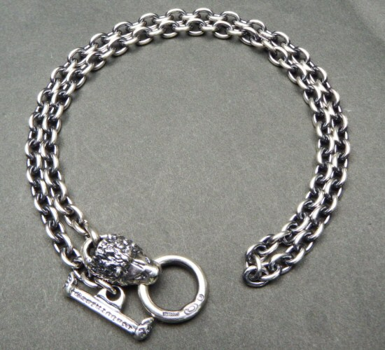 画像3: 6Chain with quarter lion & quarter T-bar necklace