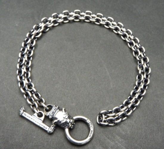 画像3: 6Chain with quarter old bulldog & quarter T-bar necklace