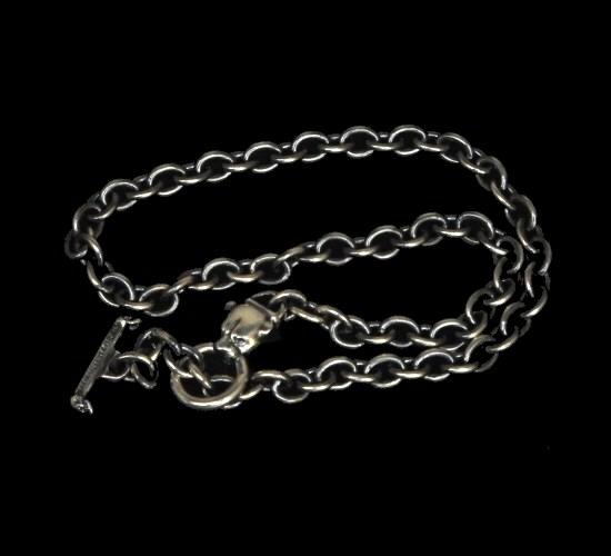 画像1: 7Chain with quarter panther & quarter T-bar necklace