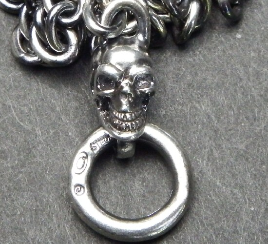 画像4: 4.7Chain with 1/8 skull & 1/8 Classic T-bar Necklace
