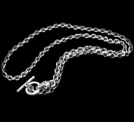 画像1: 3.9Chain with 1/8 skull & 1/16 Classic T-bar Necklace