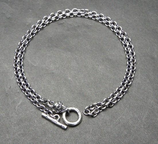 画像3: 3.9Chain with 1/8 skull & 1/16 Classic T-bar Necklace