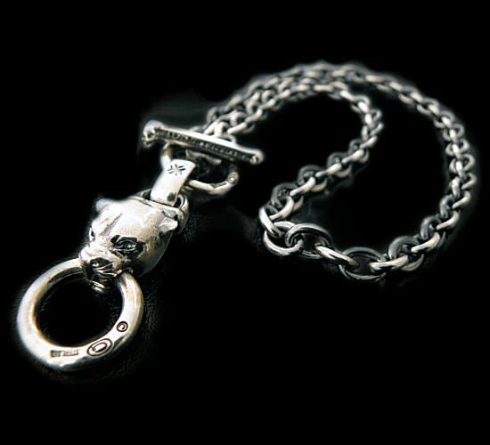 画像1: Half panther with O-ring & 7chain necklace