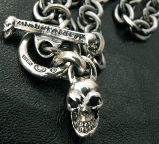 画像2: Half skull with O-ring & 7chain necklace