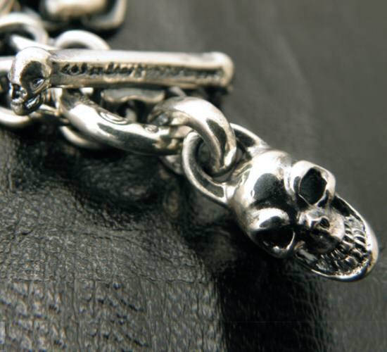 画像5: Half skull with O-ring & 7chain necklace