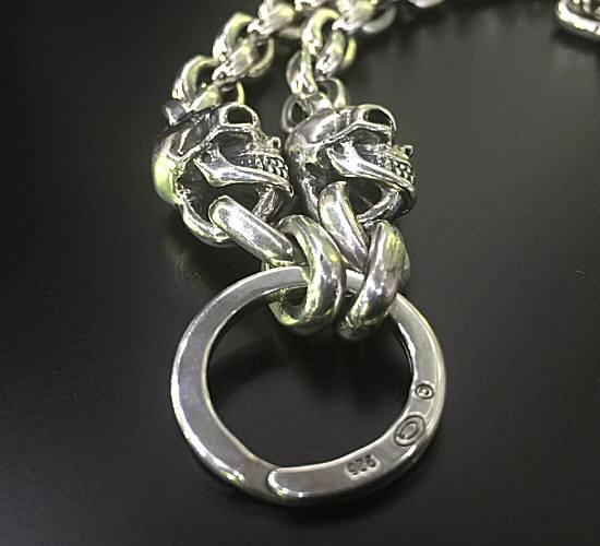 画像4: 2skull & skull wing with small oval links & key ring necklace