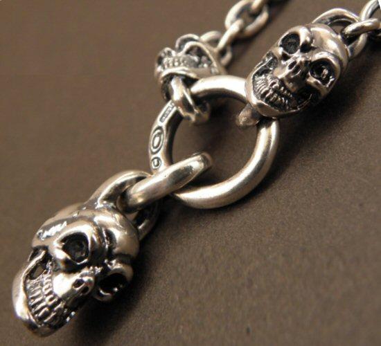 画像3: Half Skull With 2 Quarter Skulls & 6Chain Necklace