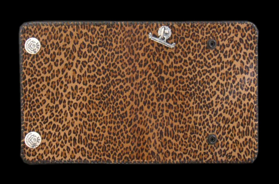 画像1: Unborn Calf Medium Leopard Long Wallet