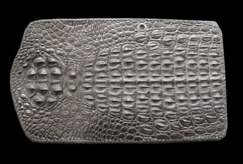画像1: Crocodile Head Long Wallet