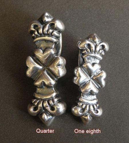 画像2: Quarter 4 Heart Crown Pendant [Hanging type]