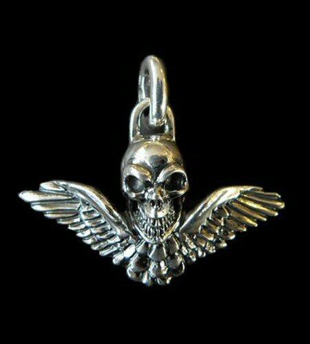 画像1: Wing Skull Pendant
