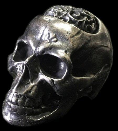 画像1: Large Brains Skull Full Head Ring