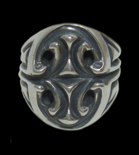 画像1: Sculpted Oval Signet Ring