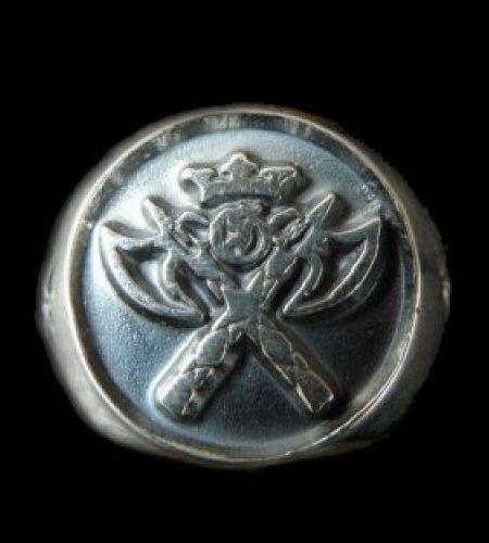 画像1: Battle-Ax Round Stamp Ring