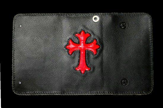 画像3: Lizard Cross Inlay Buffalo Long Wallet