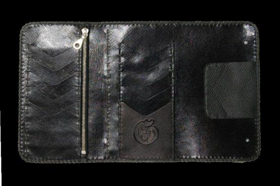 画像4: Lizard Cross Inlay Buffalo Long Wallet