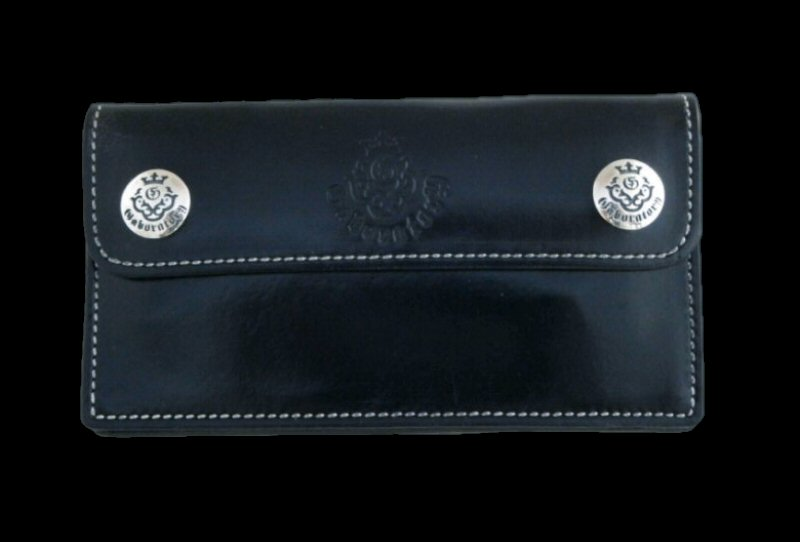 画像1: Atelier Mark Long Wallet Early model (Black)
