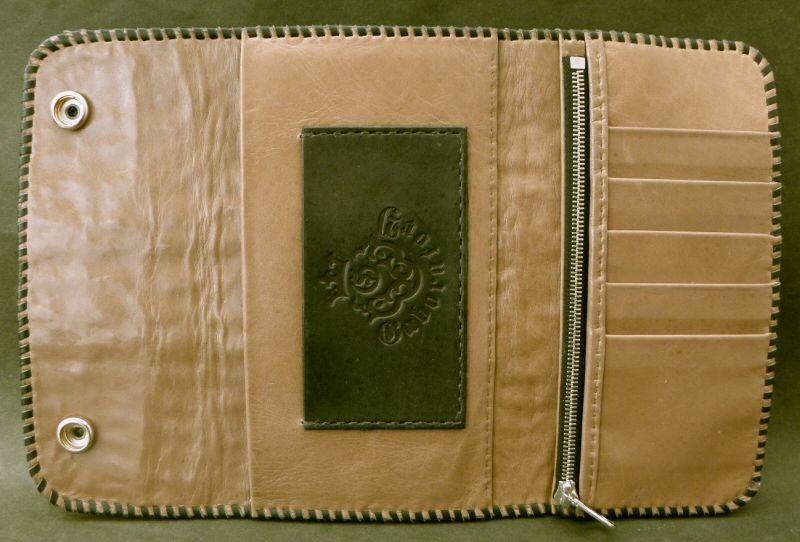 画像2: Crocodile Tail W-Spine Long Wallet