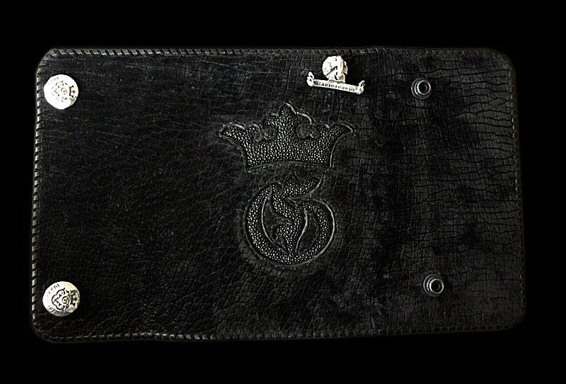 画像1: Stingray G&Crown Inlay Hippo Long Wallet