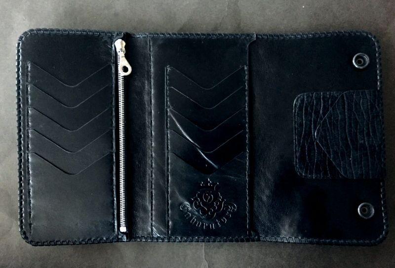 画像2: Stingray G&Crown Inlay Hippo Long Wallet