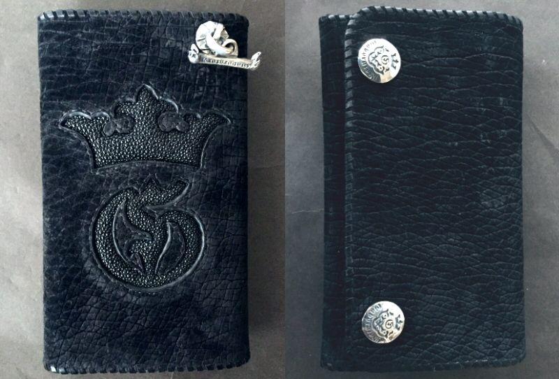 画像3: Stingray G&Crown Inlay Hippo Long Wallet