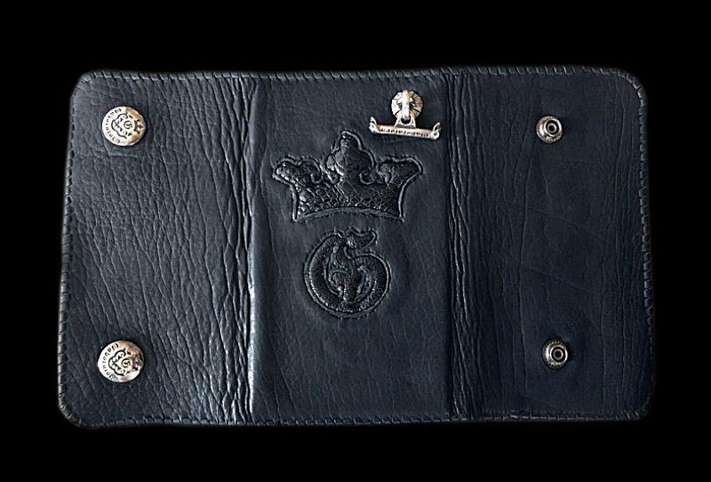 画像1: Frog G&Crown Inlay Buffalo Long Wallet