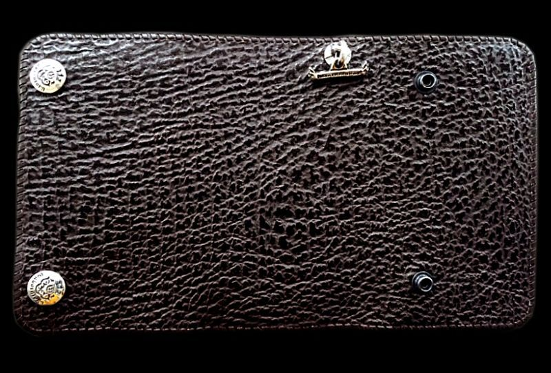 画像1: Shark Plain Long Wallet (Chocolate)