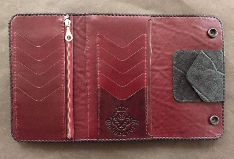 画像2: Hippo G&Crown Inlay Elephant Long Wallet
