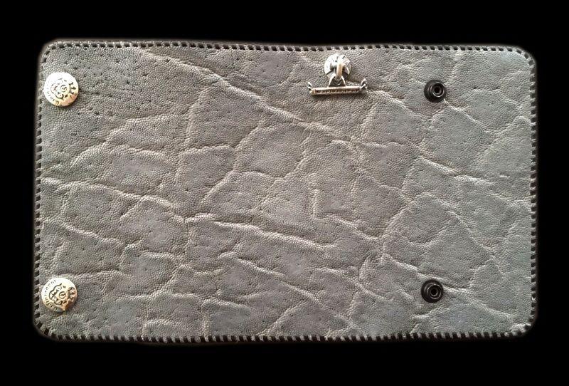 画像1: Elephant Plain Long Wallet (Gray)