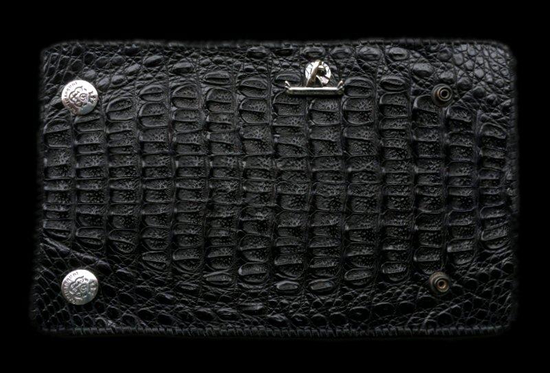 画像1: Crocodile HornBack Plain Long Wallet