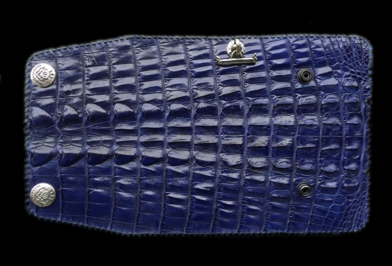画像1: Crocodile Tail W-Spine(L) Long Wallet