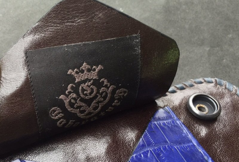画像3: Crocodile Tail W-Spine(L) Long Wallet