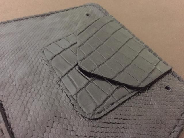 画像3: Crocodile Tail W-Spine(L) Long Wallet
