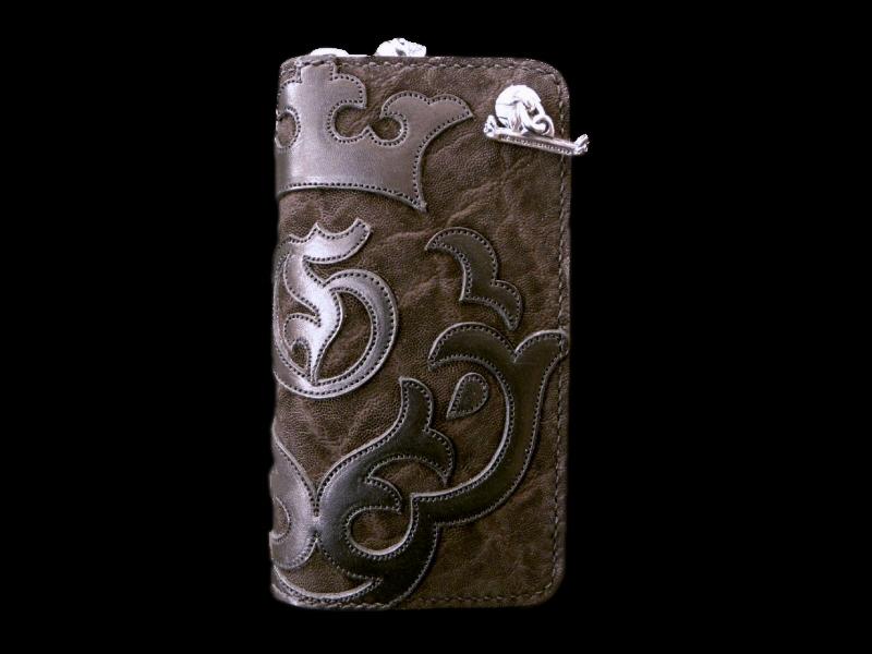 画像1: Atelier Mark Overlay Elephant Round Zip Wallet