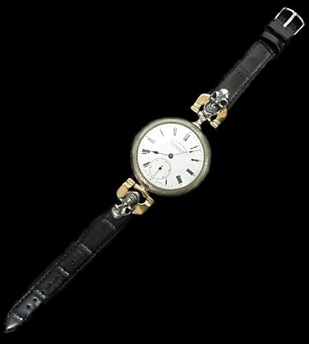 画像1: LONGINES Vintage Watch With 2Skulls Watch Band