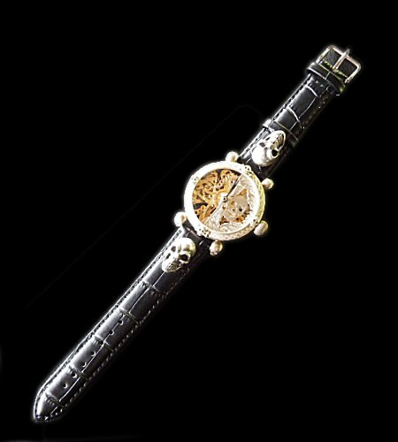 画像1: OMEGA Vintage Skeleton Watch With 2Skulls Watch Band