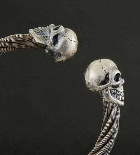 画像5: Skull Cable Wire Bangle