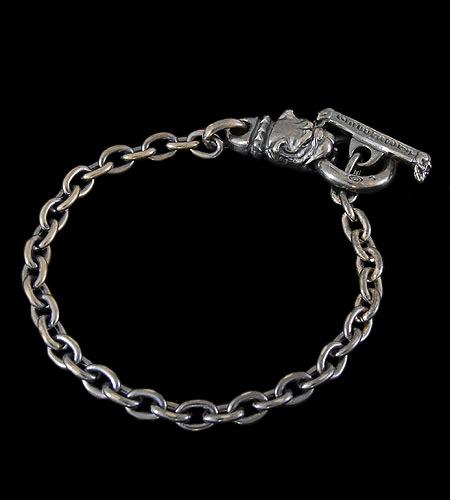画像1: Quarter Old Bulldog Quarter Chain Bracelet