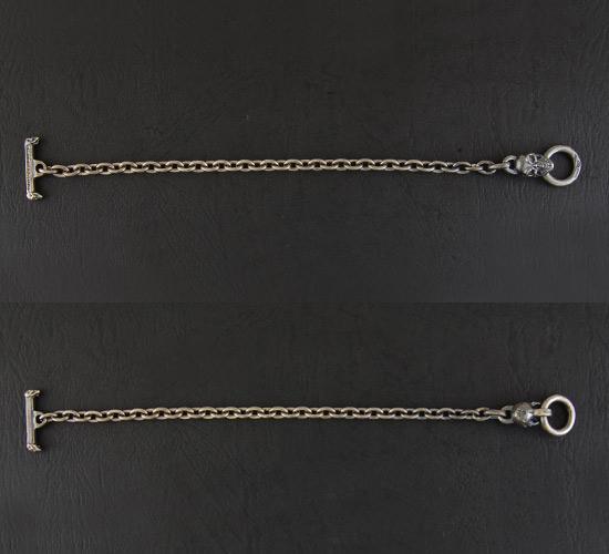 画像2: Quarter Skull Quarter Chain Bracelet