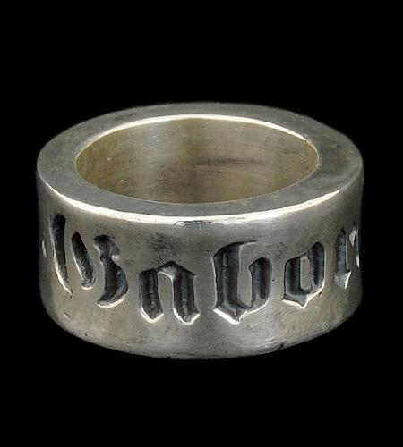 画像1: Wide Gaboratory Cigar Band Ring