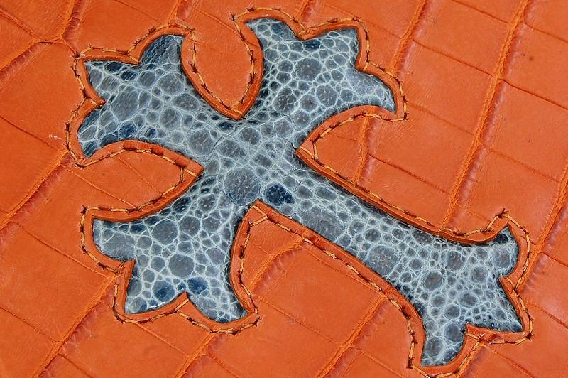 画像5: Frog Cross Inlay Crocodile(Belly) Long Wallet