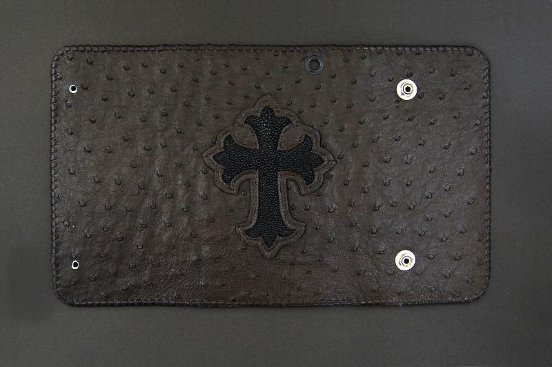 画像3: Stingray Cross Inlay Ostrich Long Wallet