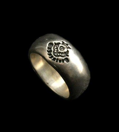 画像1: Multi Engraved Large Smooth H.W.O Ring