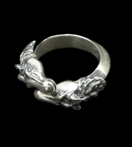 画像1: Horse Triangle Wire Bangle Ring