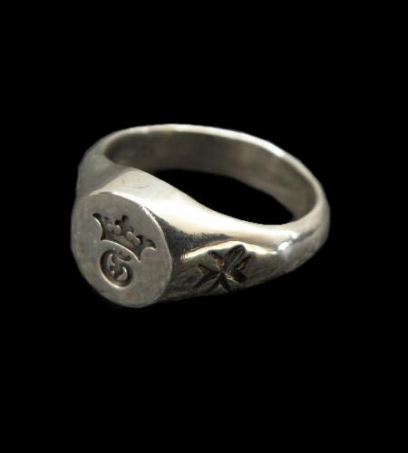 画像1: G&Crown Small Signet Ring